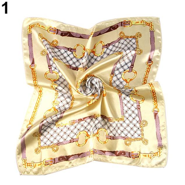 Women Fashion All Match Pocket Square Silk Scarf
