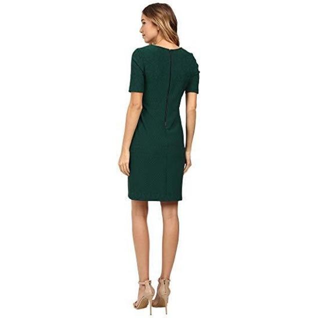 Christin Michaels Women's Aleta Sheath Dress Hunter Green Dress 10