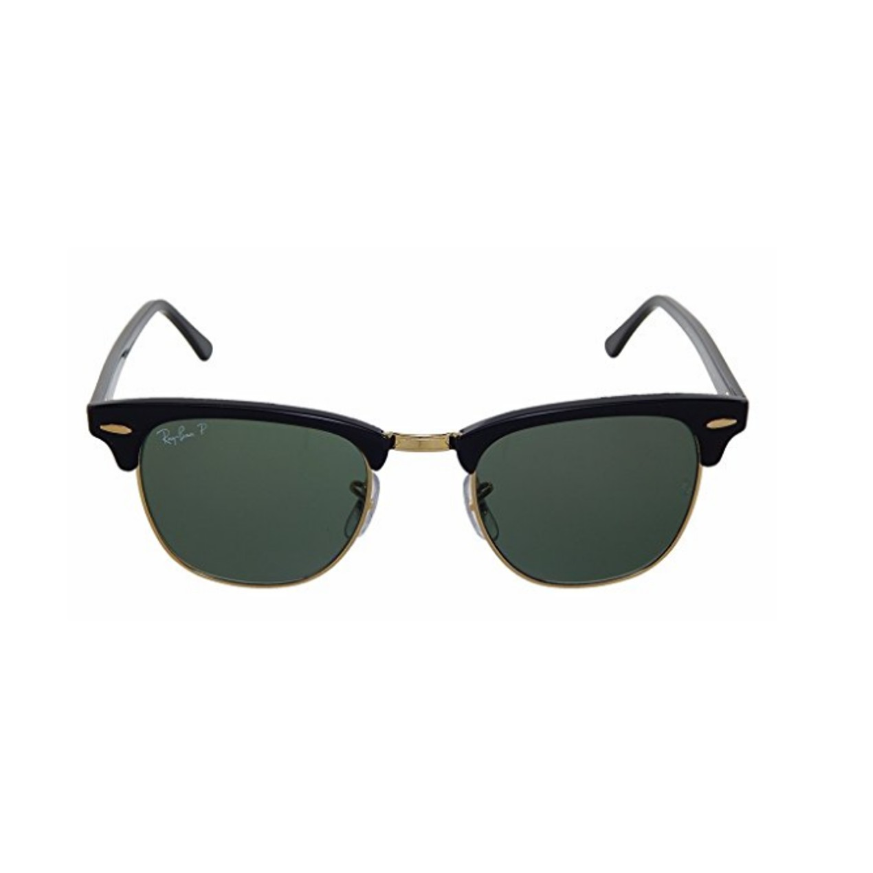 891aad65955 New Ray Ban Clubmaster RB3016 901 58 Black Crystal Green Polarized ...