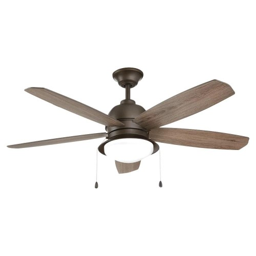 """Home Decorators Collection Ackerly 52"""" LED Indoor/Outdoor Ceiling Fan,"""