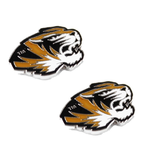 Missouri Tigers Mizzou Post Stud Earring NCAA Charm Set