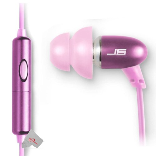JLAB Jbuds Metal Earbuds Pink Compatible with All Mobile Smart Devices and MP3 Players