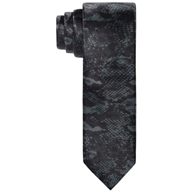 Tallia Men's Slim Snakeskin-Print Tie Black Size Regular