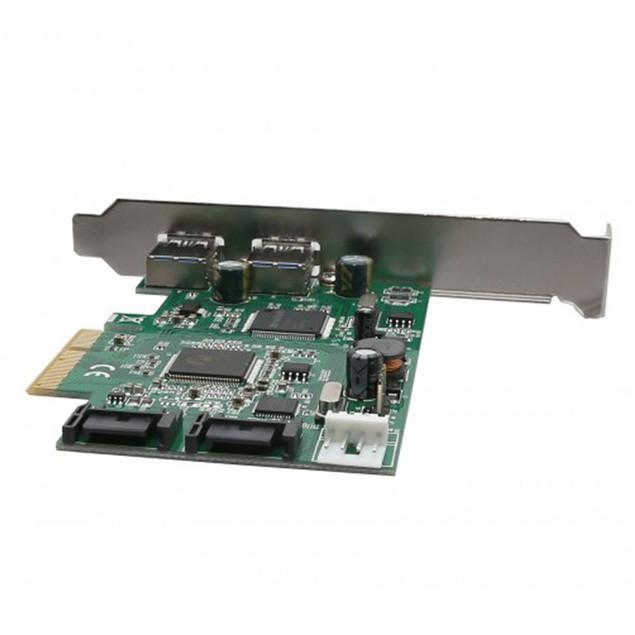2 Port USB 3.0 And 2 Port SATA III 2-Lane PCI-e 2.0 x4 Card
