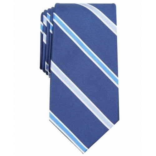 Club Room Men's Stripe Tie Blue Size Regular