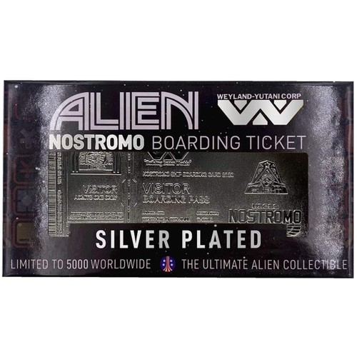 Alien Limited Edition Silver Plated Boarding Ticket