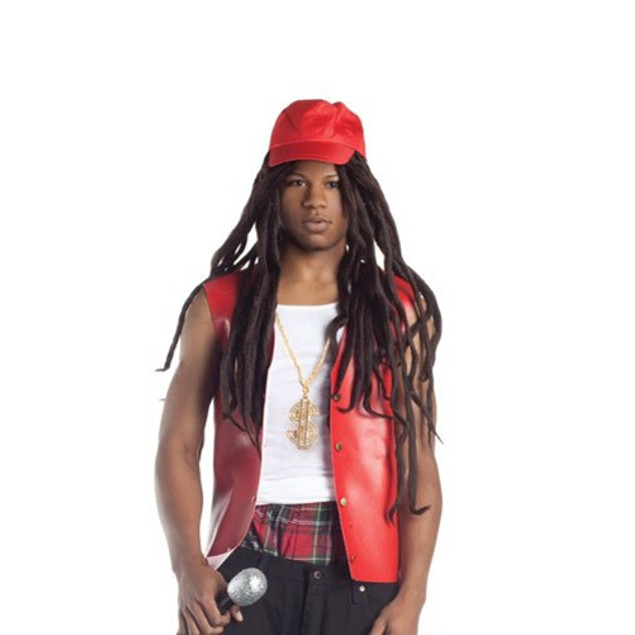 Lil Wayne Wig With Hat Rapper Weezy Dreadlocks Cap Adult Costume Rap Mens