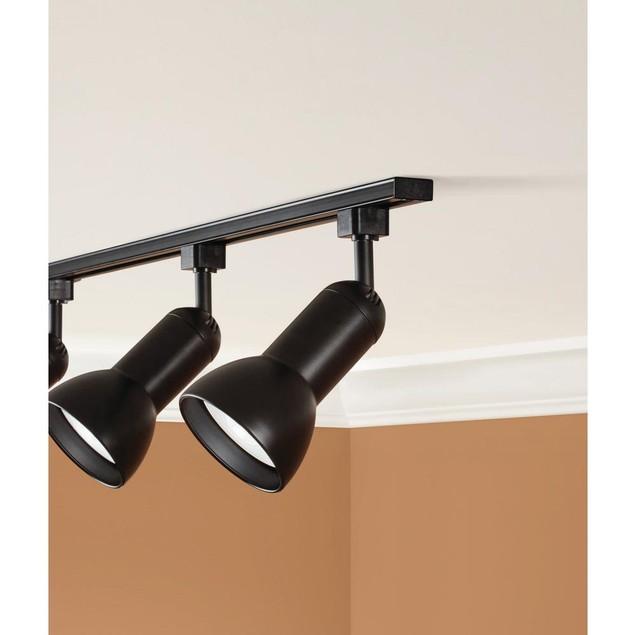 Hampton Bay Linear Track Lighting Head, Multi-Directional Lamp, Black