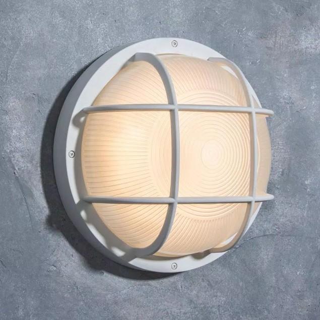 LUTEC Coastal Guard Technology Jacksonville White LED Bulkhead Wall Lantern