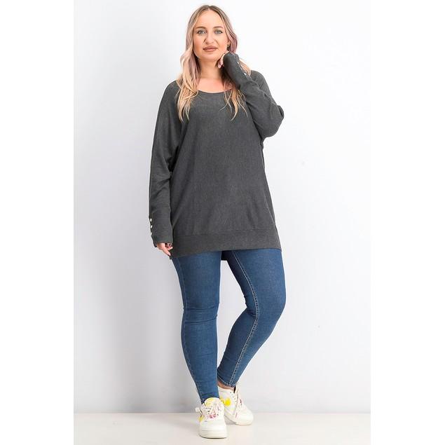 JM Collection Women's Dolman Sweater Dark Gray Size 3X