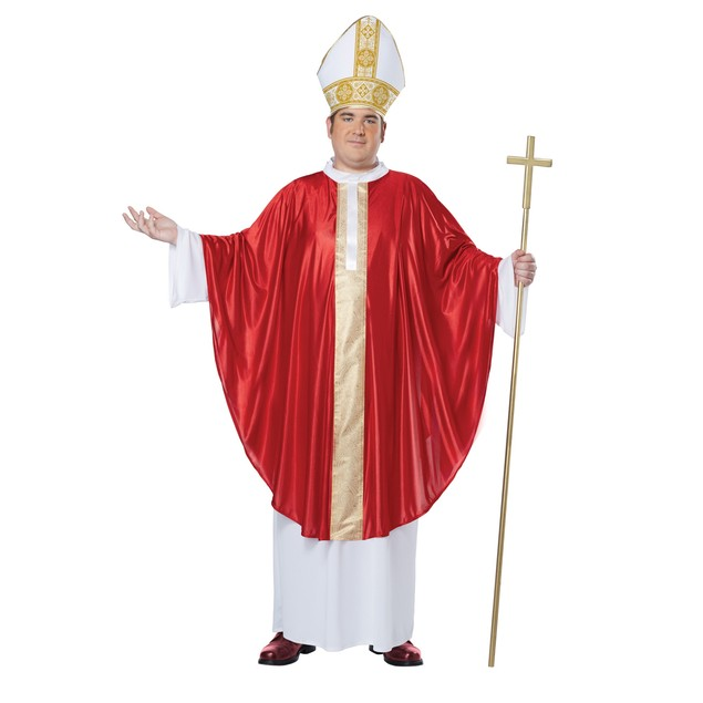 The Pope Adult Plus Size Costume Robe Papal Hat Catholic Church Religious