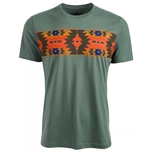 American Rag Men's Chest Pattern T-Shirt Green Size Small