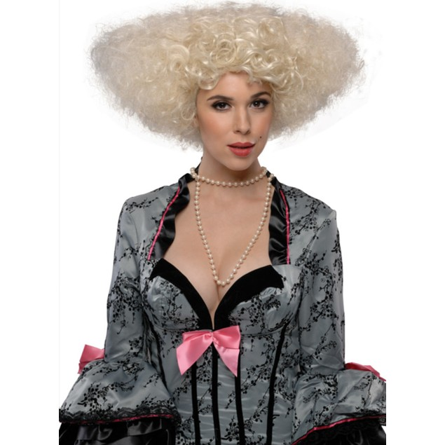 Blonde Let's Dance Wig Victorian Womens Adult Costume Halloween Accessory