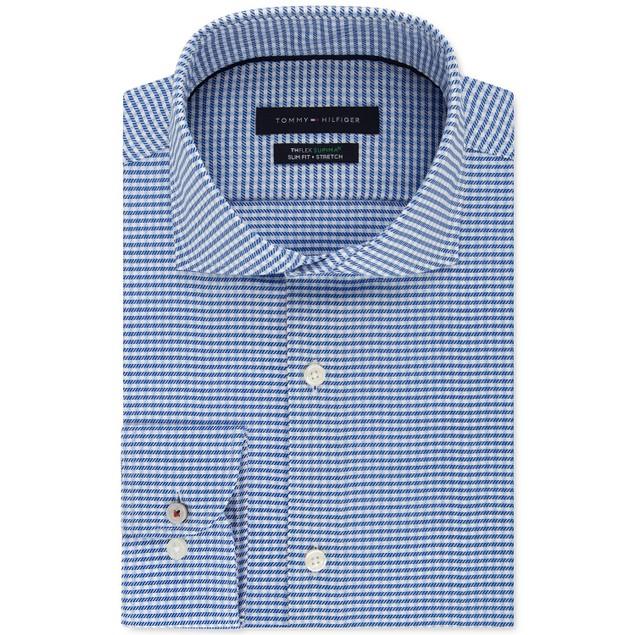 Tommy Hilfiger THFlex Supimar Stretch Check Dress Shirt 16.5x32-33