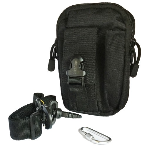 Multifunctional outdoor sports and mobile phone Military Bag Black 10 Pcs
