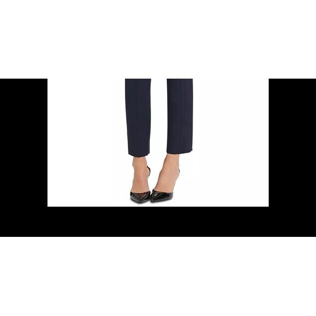 DKNY Women's Button-Trim Dress Pants Blue Size 2