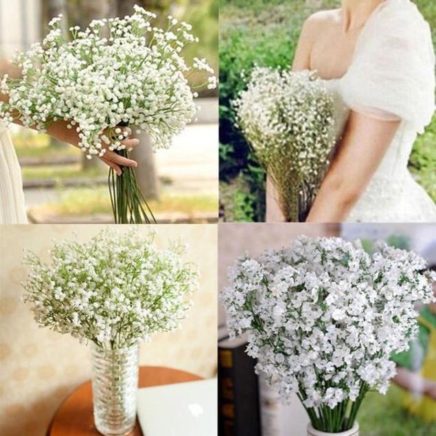 Artificial Gypsophila Flower Fake Silk Wedding Party Bouquet Home Decor