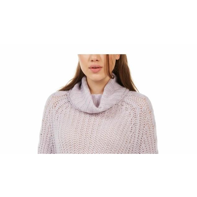 Planet Gold Juniors' Cowl-Neck Sweater Purple Size X-Large