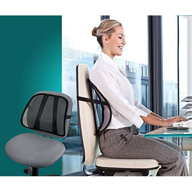 Zone Tech 4x PosturePro Mesh Office Chair & Car Seat Lumbar Back Support