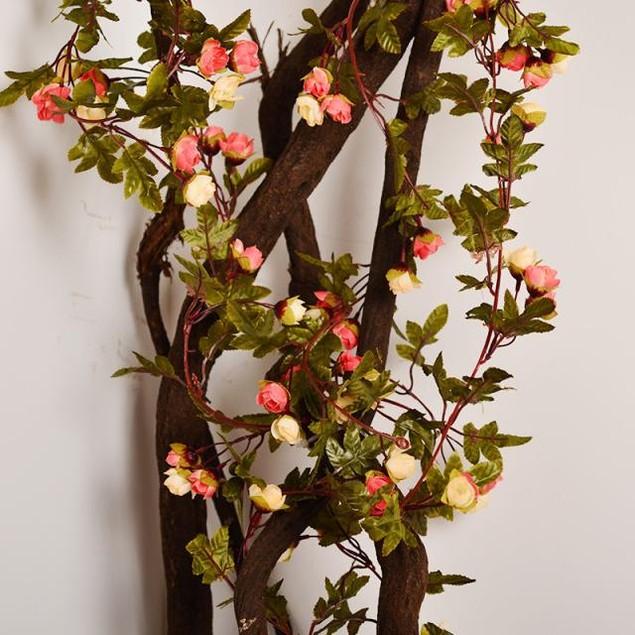 1PC Artificial Flower Rattan Green Leaf Vine Garland Home  Decor