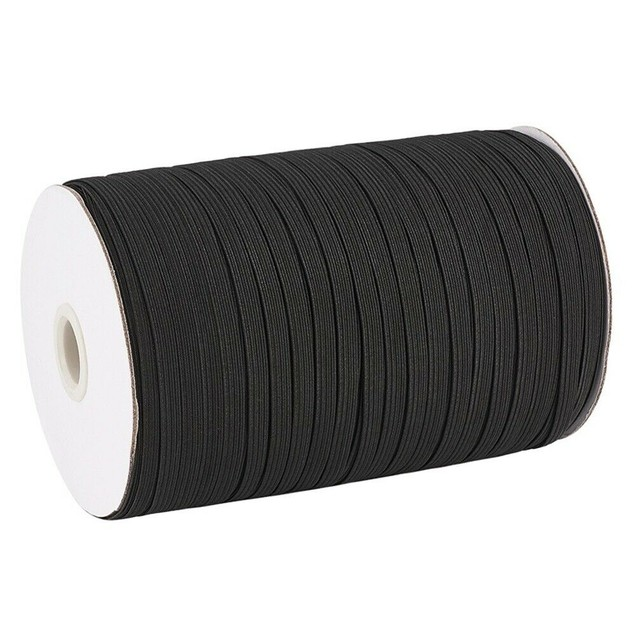 1/4 Inch Elastic Band, 400 Yards Sewing Elastic Band/Rope/Cord/String - Black