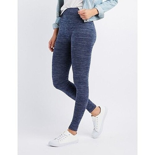 High-Waisted Fleece Lined Marled Leggings (S-3X)
