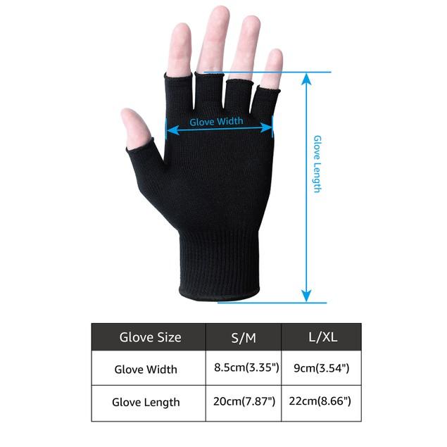 EvridWear Silk Knit Half-finger Gloves ECO-Friend Liner Anti-UV