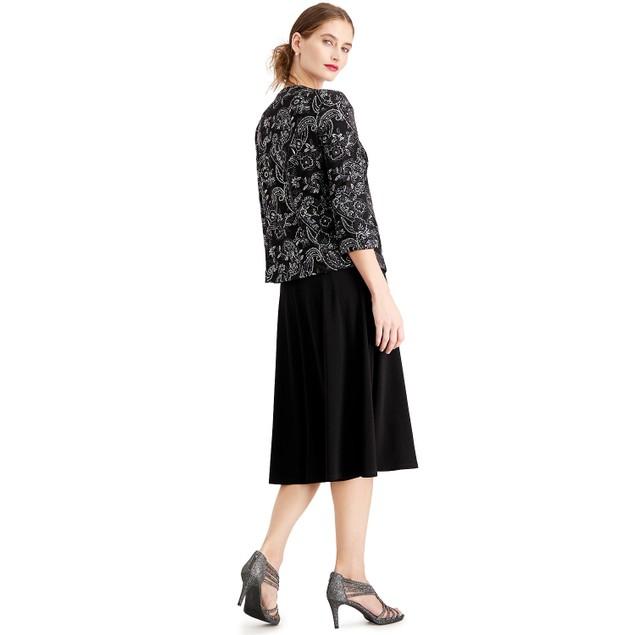 Jessica Howard Women's Glitter Dress & Jacket Silver Size 14