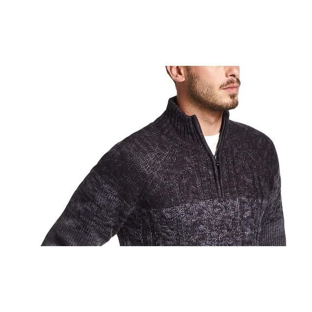 Weatherproof Vintage Men's Ombre Quarter-Zip Sweater Blue Size Small