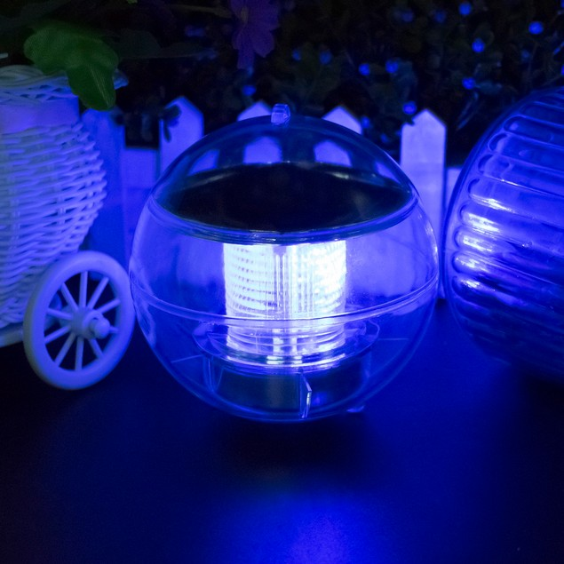 Rotating Color Changing Solar LED Nightlight Floating Lamp