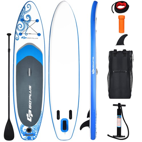 Costway 10.6' Inflatable Stand Up Paddle Board W/Carry Bag Adjustable Paddl