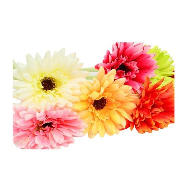 10pcs Artificial Chrysanthemum Carnation Fake Flower Bush Bouquet Decor