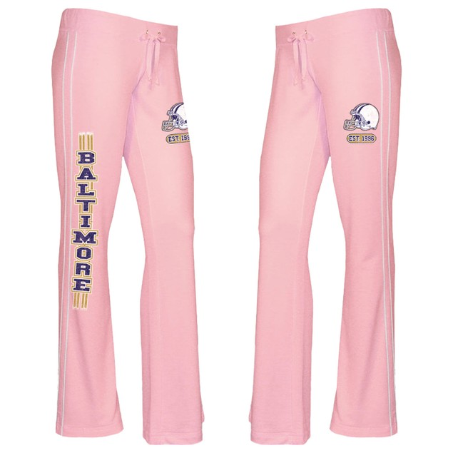 Women's Pink French Terry Football Lounge Pants