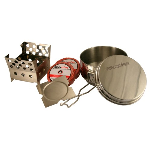 QuickStove Portable Emergency Cook kit - Includes Stove, Pot & Fire Starter