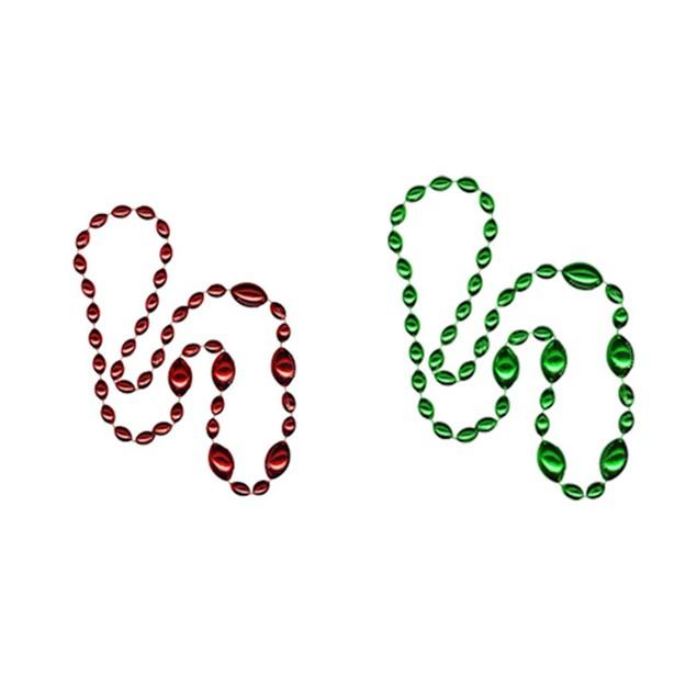 Cleanlapsports Jumbo Football Beads Green/ Red - 2 Piece