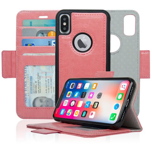 Navor Detachable Magnetic Wallet Case for iPhone X/10 [Vajio Series]