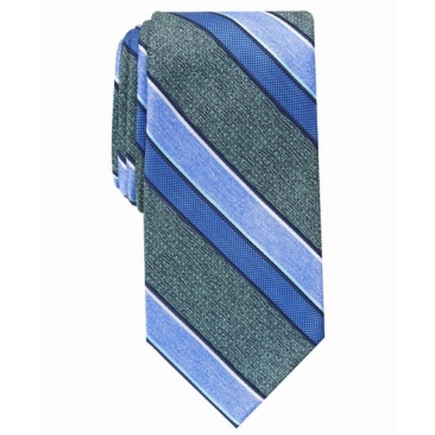 Perry Ellis Men's Payson Stripe Tie Green Size Regular