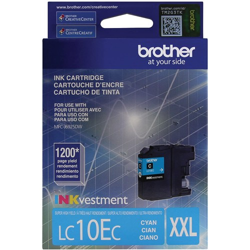 Brothers Brother Printer LC10EC Super High Yield Cyan Ink Cartridge