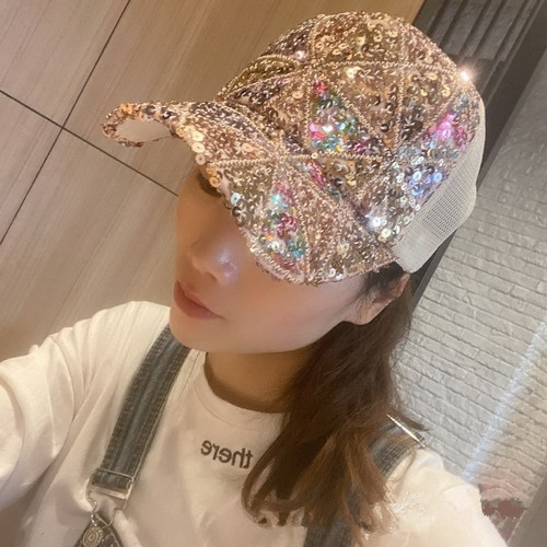 Fashion Outdoor Breathable Mesh Sequined Cap