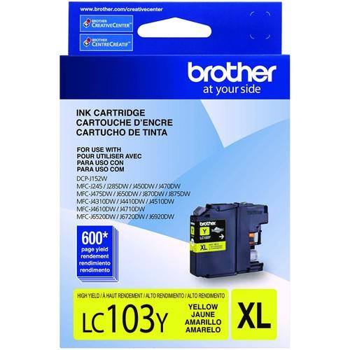 Brothers Brother LC-103Y DCP-J132 J152 J171 J4110 J552 J752 MFC-J245 J285 J4310 J4410 J450 J4510 J870 J875 Ink Cartridge (Yellow) in Retail Packaging