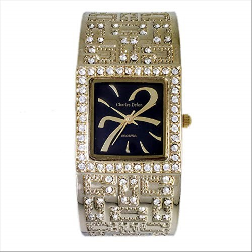 Charles Delon Women's Watches 4786 LABW Gold/Silver Stainless Steel Quartz Square