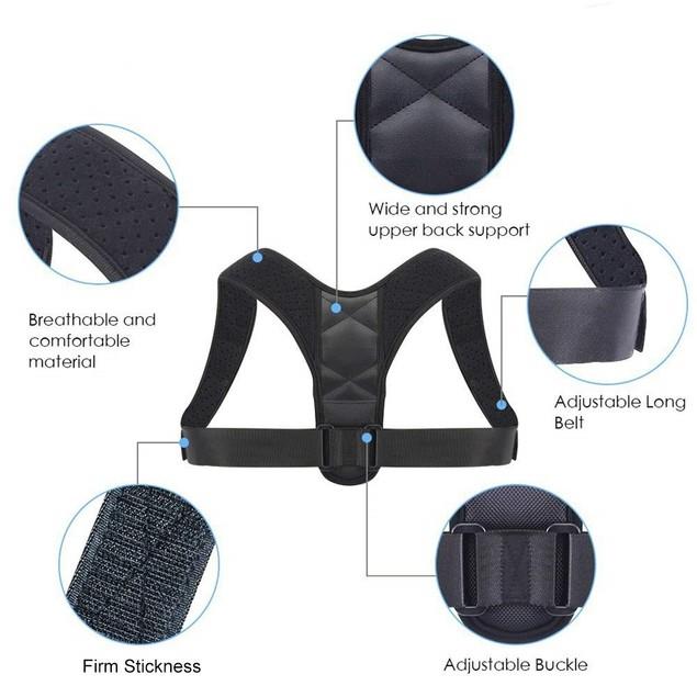 Posture Corrector Adjustable Back Clavicle Support Brace For Men & Women