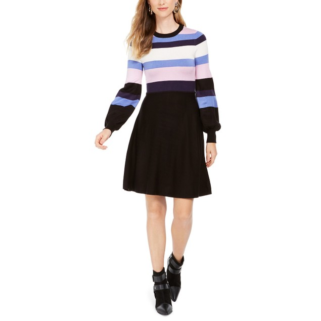 Vince Camuto Women's Colorblocked Sweater Dress pink Size X-Large