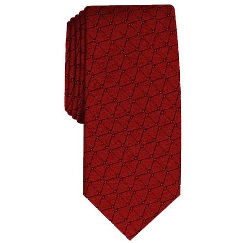 Alfani Men's Slim Geometric Tie  Red Size Regular