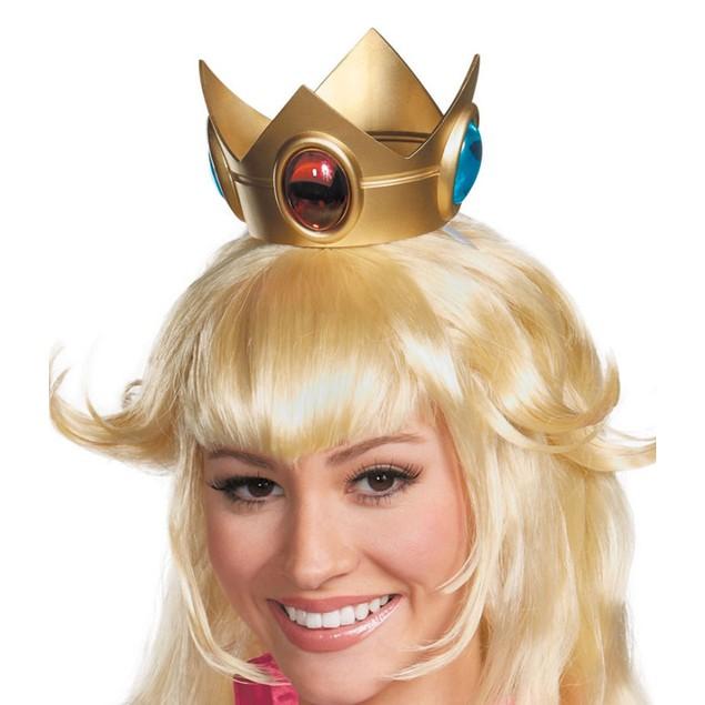 Princess Peach Crown Super Mario Bros Costume Accessory Adult Womens Girls