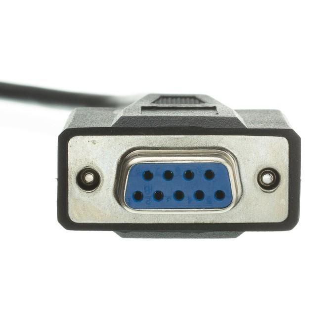 DB9 Female Serial Cable, Black, DB9 Female, 1:1, 10 foot