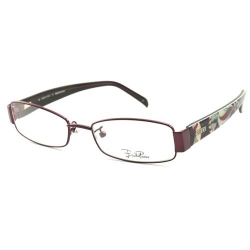Emilio Pucci Women Eyeglasses EP2136 513 Purple 52 17 135 Full Rim Rectangle