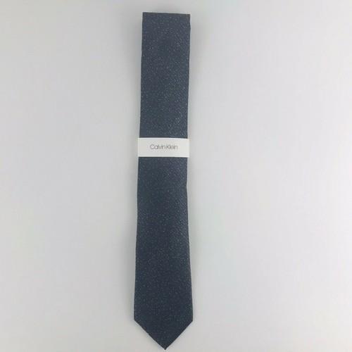Calvin Klein Men's Slim Knit Silk Tie Gray Size Regular