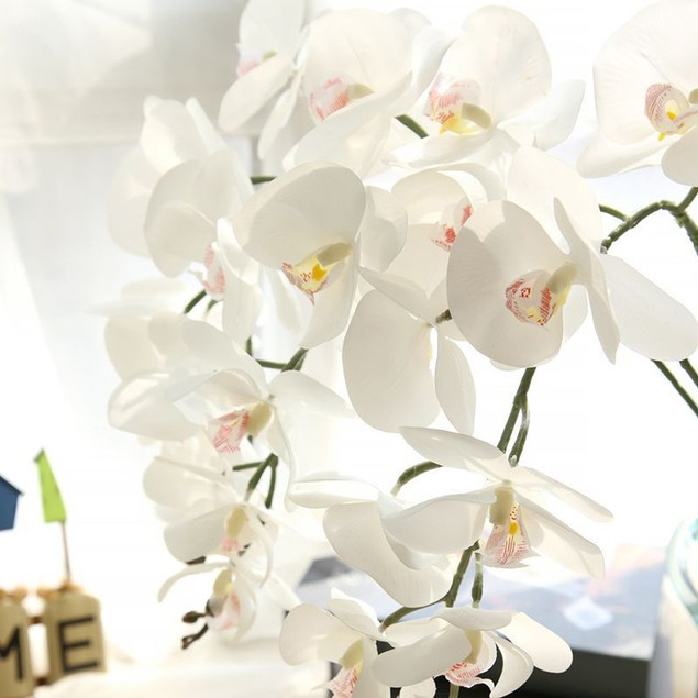 Artificial Silk Fake Flowers Phalaenopsis Wedding Bouquet Party Home Decor