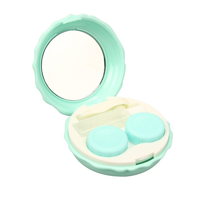 Contact Lens Travel Kit Case Pocket Size Storage Holder Soaking Container